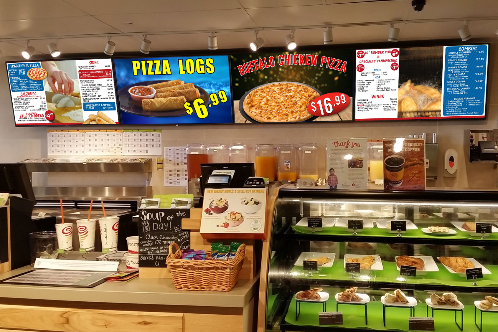 Digital Signage For Pizza Stores
